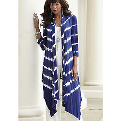 Ocean Wave Tie Dyed Duster