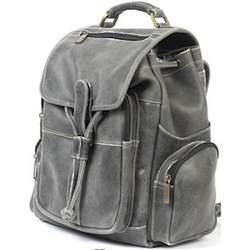 Large Distressed Leather Backpack