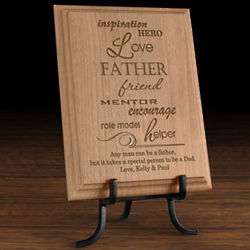 Personalized a Father Is Wooden Plaque