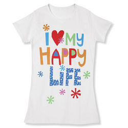 I Love My Happy Life Night Shirt