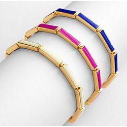 Vibrant Enamel Link Bracelet
