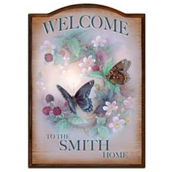 Personalized Floral Welcome Sign
