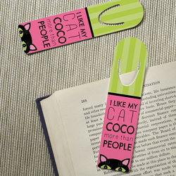 Cat Lover Personalized Bookmarks