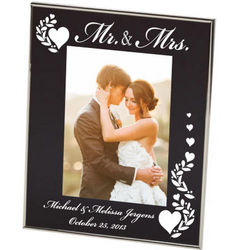 Mr. and Mrs. Personalized Black Isis Photo Frame