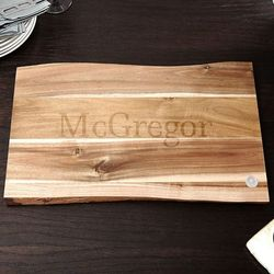 In the Raw Classic Cut Personalized Wood Cutting Board