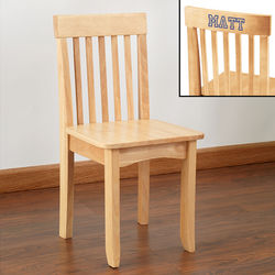 Kid's Personalized Natural Wood Chair