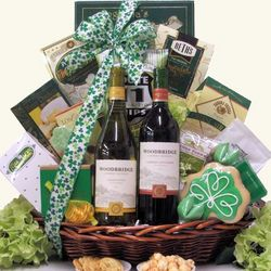 Irish Blessings St. Patrick's Day Wine Gift Basket