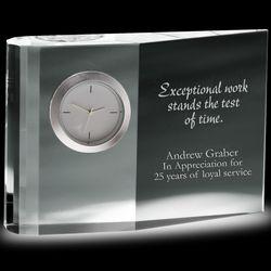 Wedge Crystal Award Clock