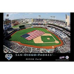 Personalized 24x36 San Diego Padres Baseball Stadium Print