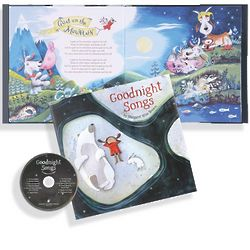 Goodnight Songs Hardcover Book with CD