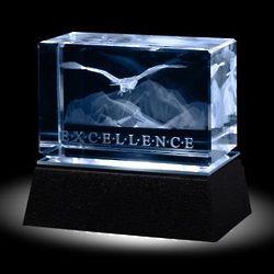 Excellence Eagle 3D Crystal Award