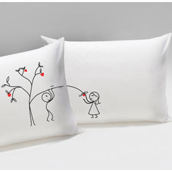Love Grows for You His & Hers Matchiing Couple Pillowcases