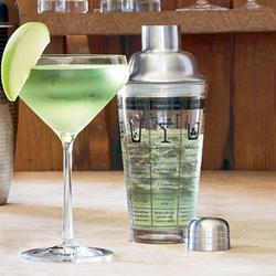 Glass Recipe Shaker