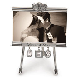 Wedding Easel Charm Picture Frame