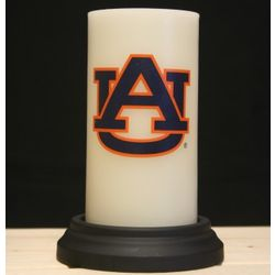 Auburn Tigers Flameless Pillar Candle