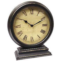 Distressed Round Mantel Clock
