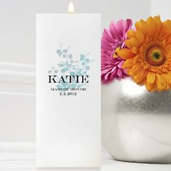 Personalized Graceful Nature Square Friendship Candle