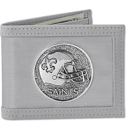 New Orleans Saints Stainless Steel Wallet