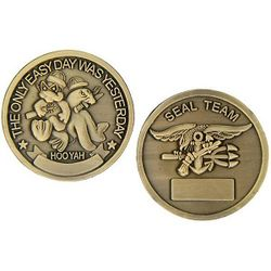 The Only Easy Day Seal Team Challenge Coin