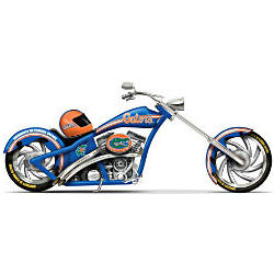 Florida Gators Chomp Motorcycle Chopper Figurine