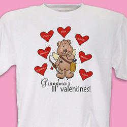 Lil' Valentines Personalized Adult T-Shirt