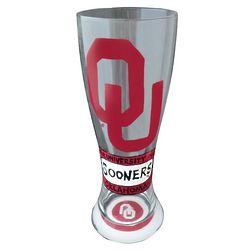 Oklahoma University Sooners Handpainted Pilsner Glasses