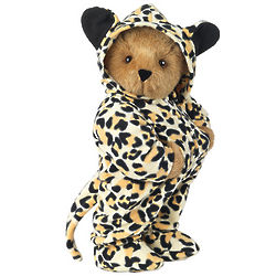 Leopard Hoodie-Footie Teddy Bear
