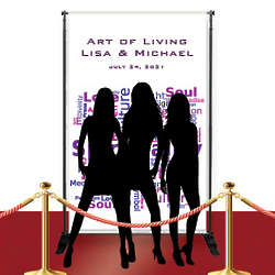 Custom Printed Red Carpet Spiritual Wedding Banner