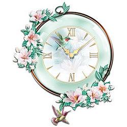 Timeless Garden Treasures Hummingbird Wall Clock