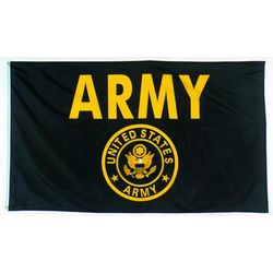Black and Gold US Army Flag