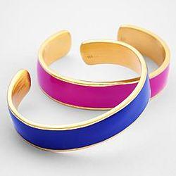 Vibrant Enamel Cuff Bracelet