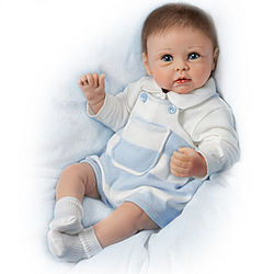 Ethan's Sweet Touch Lifelike Interactive Baby Boy Doll
