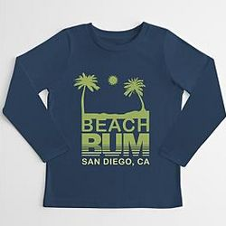 Kid's Beach Bum Long Sleeve T-Shirt