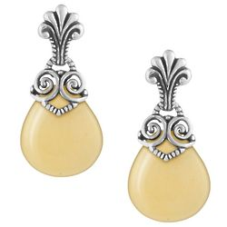 Sincerely Fabulous Yellow Jasper Drop Earrings
