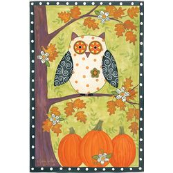 Owl on a Tree Fall Garden Flag