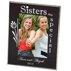 Sisters Black Floral Photo Frame