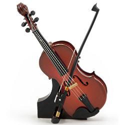Miniature Replica Violin and Bow Music Box
