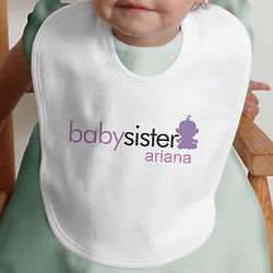 Personalized Baby Brother or Sister Bib
