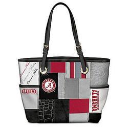 Crimson Tide Patchwork Tote Bag