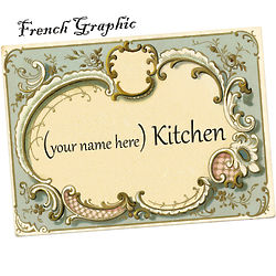 French Graphic Personalized Tempered Glass Cutting Board