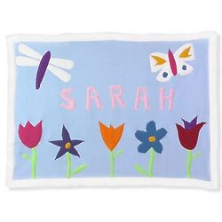 Personalized Mary, Mary Fleece Baby Blanket