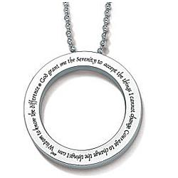 Stainless Serenity Prayer Pendant