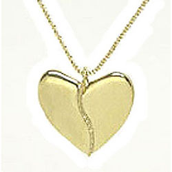 18K Gold Harmony Heart Pendant with Gold Beads