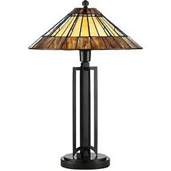 Tiffany Table Lamp in Warm Earth Tones