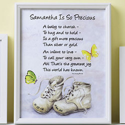 Personalized Baby is So Precious Framed Canvas