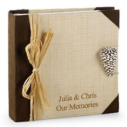 Natural Seagrass Suede Photo Album