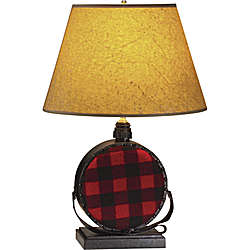Buffalo Check Canteen Table Lamp