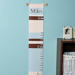 Blue Stripes Growth Chart