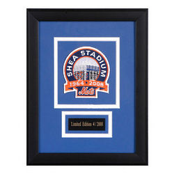 New York Mets Final Season At Shea Stadium Framed Patch