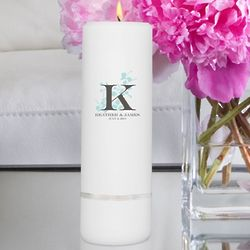 Personalized Nature's Bliss Round Pillar Unity Candle